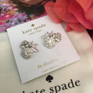 Kate Spade 'That special sparkle' earrings silver